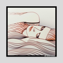 In My Bed - Canvas by Gustavo Henrique