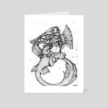 Mermaid Warfans - Art Card by Makini90