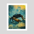 Golden Crab - Art Print by Hubert Pelerin
