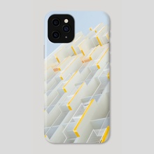 White + Yellow - Phone Case by Evelyn HG