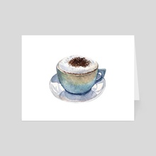 Cup of cappuccino - Art Card by Svitlana Tetokina