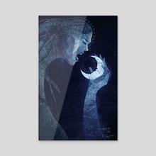 Goddess of Night - Acrylic by Micaela Dawn