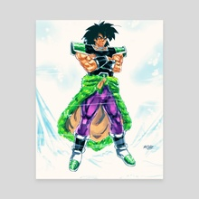 Broly - Canvas by MARK CLARK II