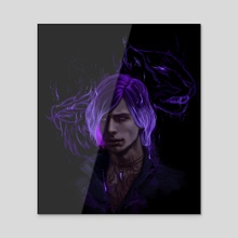 V - Acrylic by Anastasia Su