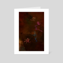 The night of TSUKUMOGAMI (yokai) - Art Card by NUÉ Papier