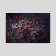 A Hero's Gathering - Canvas by Tamires Para