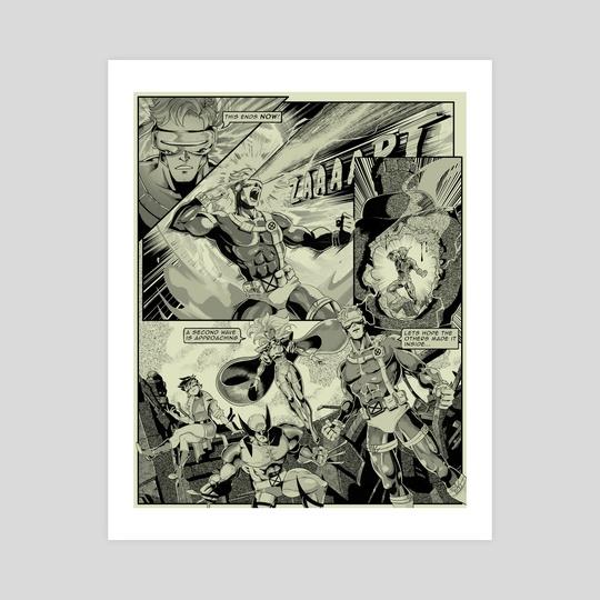 X-men Manga Page 4 by Joel Furtado