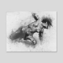 Female Figure Study 12.31.15 - Acrylic by Damian Goidich