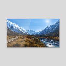 Hooker Valley  - Acrylic by Maddy