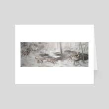 Sheep Among Wolves - Art Card by Justin Lorenzen
