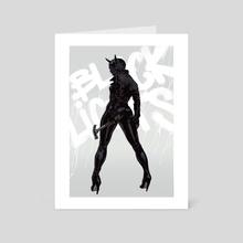 Black Lights Woman - Art Card by Robert Sammelin