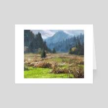 Wild Pasture - Art Card by Jordan K Walker