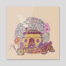 seasons - Acrylic by purringm