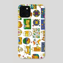 Funny cats. Drawing - Phone Case by Dmytro Rybin