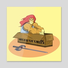 Thundercats In Boxes - Acrylic by Sam Hudson
