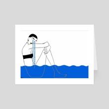 Cry me a river - Art Card by chisom onyishi