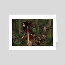 sake thief - Art Card by noireru noireru