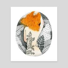 Tattoo Girl - Canvas by Bew Wanchai