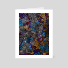 Geometric glass texture - Art Card by Bruce Rolff