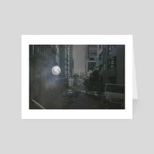 moon & the street - Art Card by Danielle McFarlane