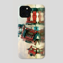 robot wars  - Phone Case by Charles Taylor