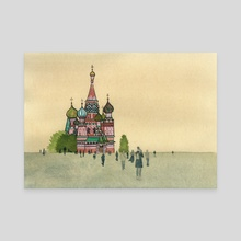 St.Basil's Cathedral, Moscow - Canvas by Liza Ferneyhough