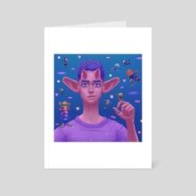 Pink Demon - Art Card by zaliko