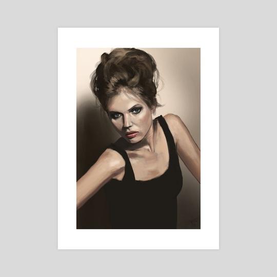 Girl portrait study by Thomas BIGNON