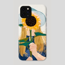 Miss Sunflower V2 - Phone Case by 83 Oranges