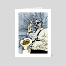 saxofonista - Art Card by mamut  rojo