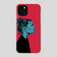 Blue girl - Phone Case by Pedro Sousa