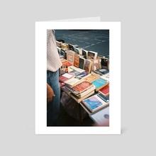 Books and a Bit of Chloe - Art Card by Emily Ciavatta