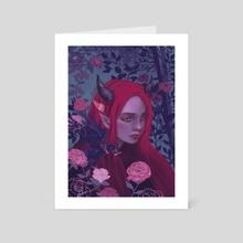 The Messenger - Art Card by Chloe de la Lune
