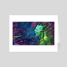 flower storm - Art Card by István Keszthelyi
