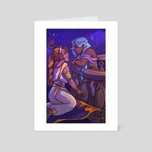 Navi Aladdin AU - Art Card by Allison Stephens