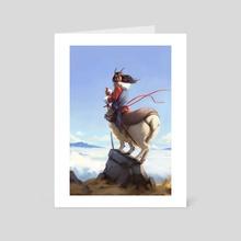 Alpine Centaur - Art Card by Zara Alfonso