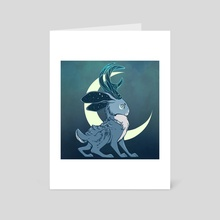 Jackalope Moon - Art Card by Danie Hadsall