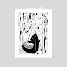 Anja Riding Hood - Art Card by S. L. Spaulding