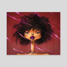 Purple Lips - Canvas by Don Flores