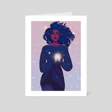 Here ! There is a light ! - Art Card by Laëtitia Claver