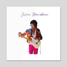 Jimi Hendrix - Acrylic by Daniel Hall