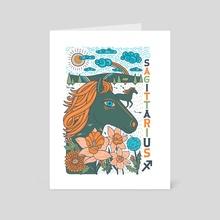 Astrology Series: Sagittarius - Art Card by Caitlin Keegan