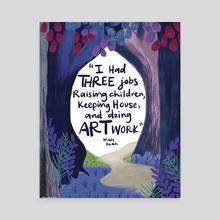Mary Blair Quote - Canvas by a creative almanac