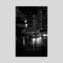 NYC Noir 005 - Canvas by Nikita Abakumov