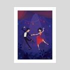 Swing Dancers - Art Print by Charlie Baudeigne