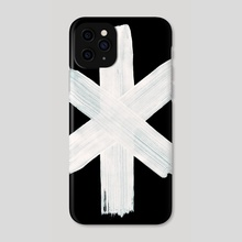 Younger Futhark Rune 07 hagall Hail Inverted - Phone Case by Wetdryvac WDV