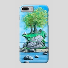 Disc Golf - Island Hole by John Dorn  - Phone Case by John Dorn