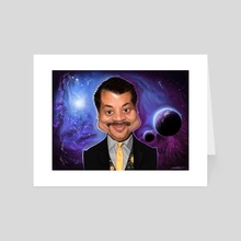 Neil deGrasse Tyson - Art Card by Priyatham Sri