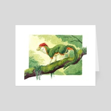 Orange-Striped Delgrin - Art Card by Rebecca Kriz