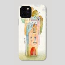 Autumn Town - Phone Case by Julia Tochilina